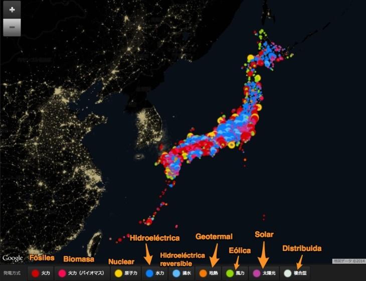 Mapa de generación de energía eléctrica class=