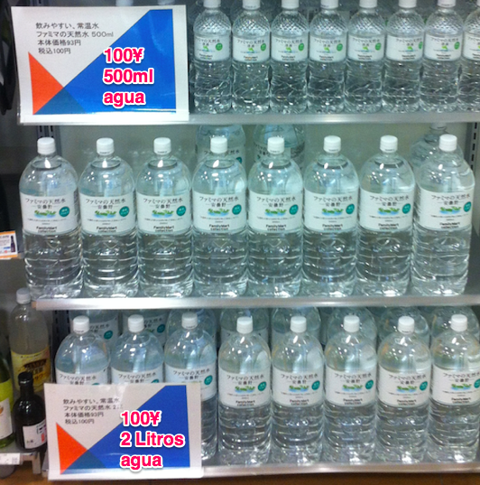 2 litros de agua al mismo precio que 0,5 litros class=