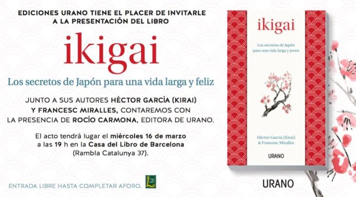 Viajo a Barcelona a presentar Ikigai – 16 de Marzo class=