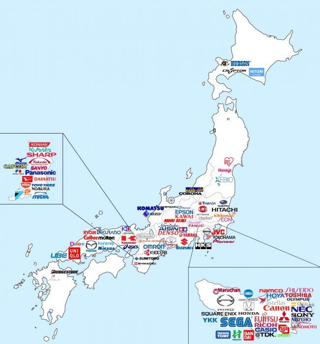 Mapa de marcas populares japonesas class=